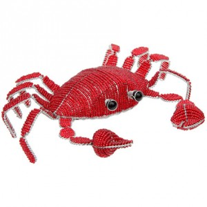 Large Beaded Red Crab
